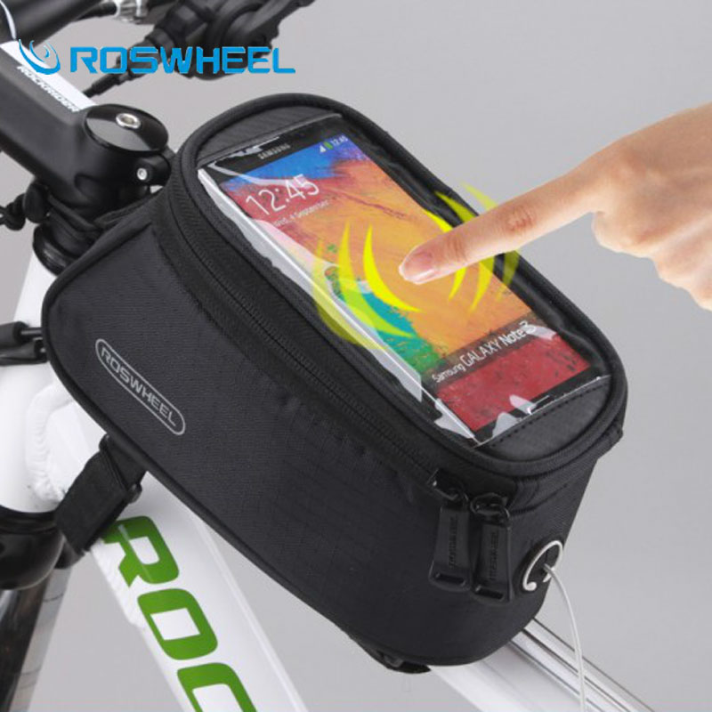 [NaturalHome] Brand Waterproof Outdoor Cycling Mountain Bike Bicycle Bag Roswheel Frame Front Top Tube Bag Pouch for Cell Phone(China (Mainland))