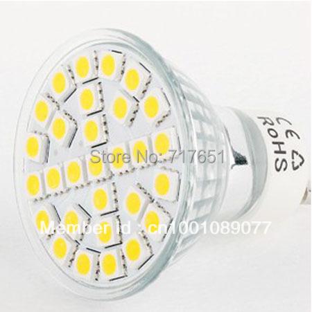 5W GU10 LED 5050 29 SMD Pure/ Warm White LED High Power Spot Light 10pcs/lot