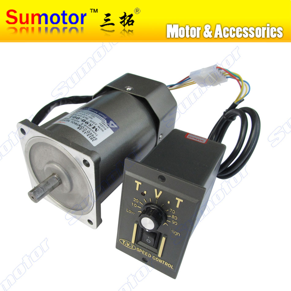 90W AC 220-240V 50/60HZ high rpm high torque electric motor with speed controller CW CCW industrial Variable for honey extractor(China (Mainland))