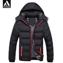 Men Hoody Winter Coats Male Hooded Plus Size XXXL 4XL Jackets Teenager Slim Fit Windbreaker Down Parka(China (Mainland))