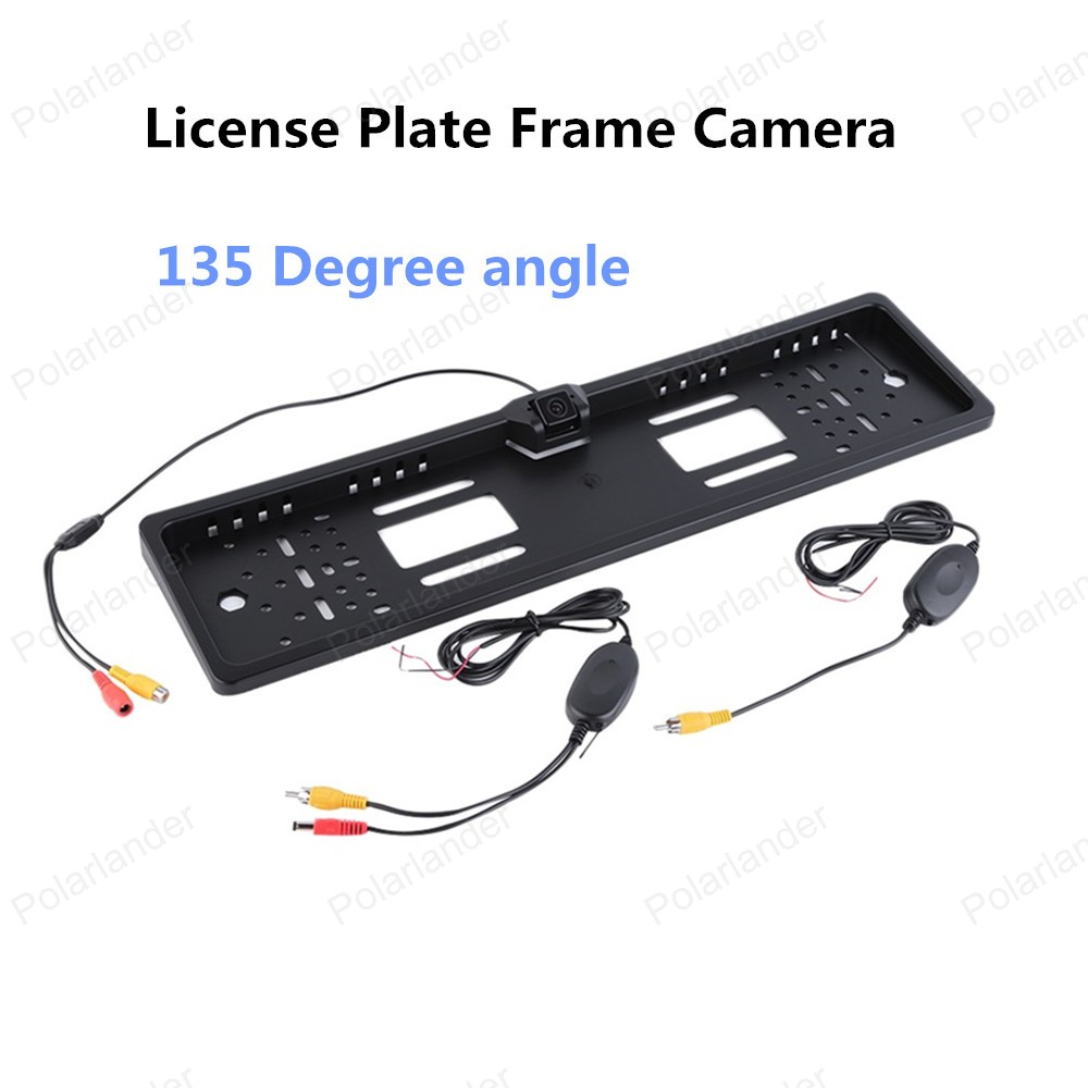 best selling Car Licence Plate Frame Backup Rear View 135 Degree Camera CMOS 1030 imaging sensor(China (Mainland))