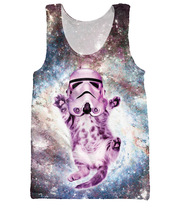 Cat Trooper Tank Top faceless enforcer of the Galactic Empire Sexy Star Wars stormtrooper helmet basketball jersey for women men(China (Mainland))