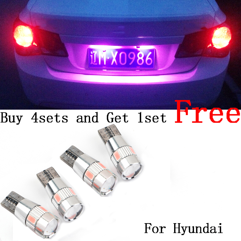 2pcs No error T10 light 194 W5W LED license plate lights For Hyundai Tucson IX35 I30 Elantra Accent Sonata Santa Veracrus Rohens(China (Mainland))