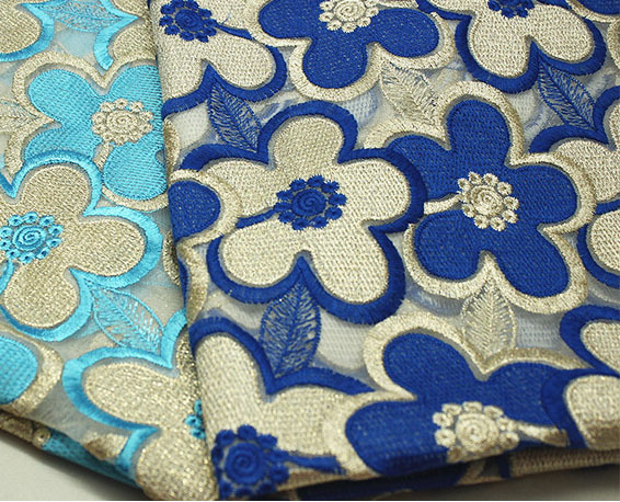 Q color gold water soluble lace fabric senior