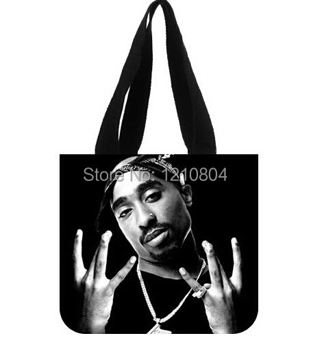Cool Handbags 2Pac Two Sides Custom Cotton Canvas Fashionable Shopping(China (Mainland))