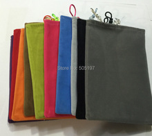 Cotton fleece mobile phone pouch for iPad MID for iPhone 6 Plus 7 inch smart tablet phablet bag case for batttery power banks