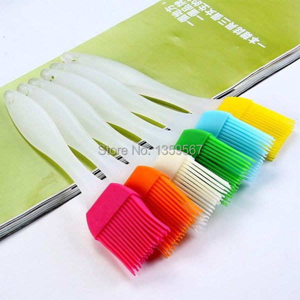 Гаджет  1PCS Safety Cooking Silicone Basting Brush BBQ Baking Cake Bread Pastry Utensil cLsol None Мебель