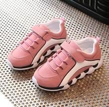 2018 ילדי סתיו אביב נעלי ספורט מזדמנים טלאי בנות רך לנשימה נעלי ריצה #7HS0130(China)