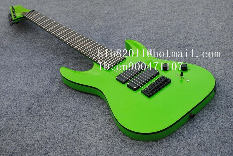 new 8-strings electric guitar in green with black hardware and ebony fingerboard made in China + free shipping+foam box F-2107(China (Mainland))