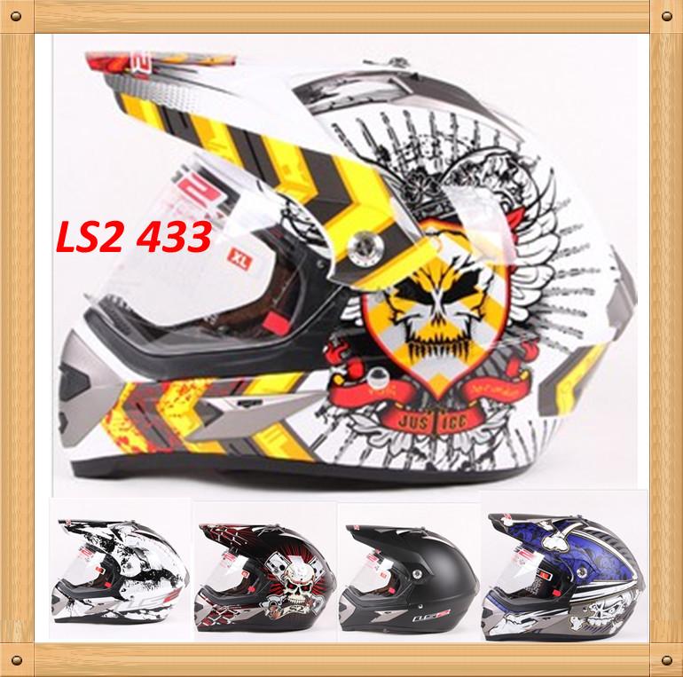 LS2 MX433 capacetes unique off road motorcycle Helmet motorcross helmets with visor(China (Mainland))