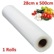 PA + PE Food Grade Membranes Vacuum Bags Film Roll Kitchen Vacuum Food Sealer Rolls Foodsaver 28cm X 5M(China (Mainland))