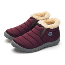 2019 Nieuwe Winter Warme Snowboots Katoen Binnen Antislip Bodem Warme Bont Waterdichte Ski Laarzen Pluche Binnenkant Casual Schoenen Maat 35-48(China)