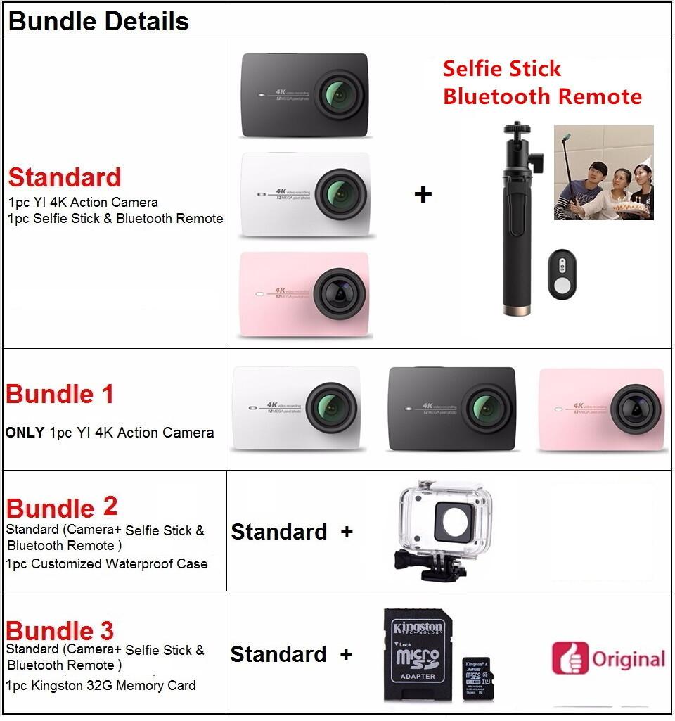 Xiaomi YI 4K Action Camera Ambarella A9SE 12MP xiaomi yi 2 155 Degree EIS LDC WIFI yi 4k International Edition Xiaoyi action cam