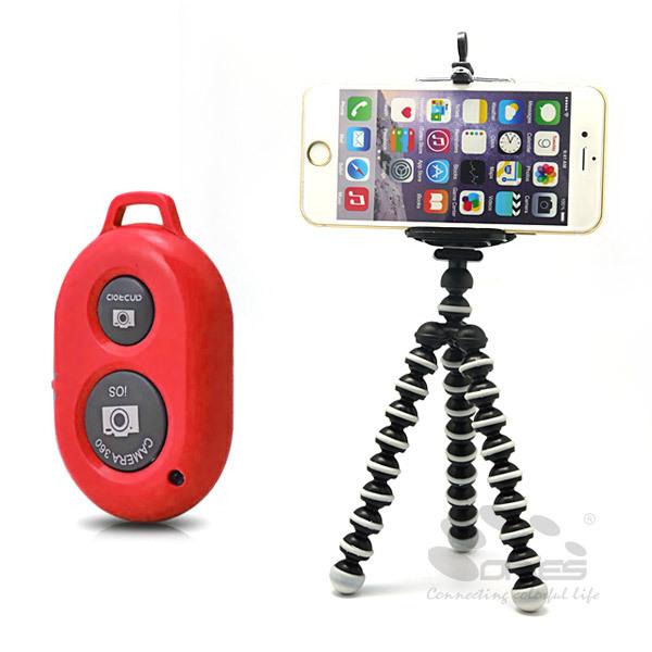 Gorillapod Type Flexible Leg Mini Tripod With Bluetooth Shutter For Iphone Samsung(China (Mainland))