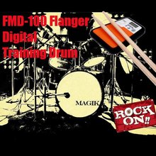 Freeshipping Flanger FMD-100 Digital Drummer Training Drum Practice Pad Metronome Music Instruments Toys For Boys Birthday Gift(China (Mainland))