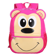 3D Monkey Children School Bags for Girls Fashion Character Animals Backpacks For Kids Waterproof School Bag Mochila(China (Mainland))