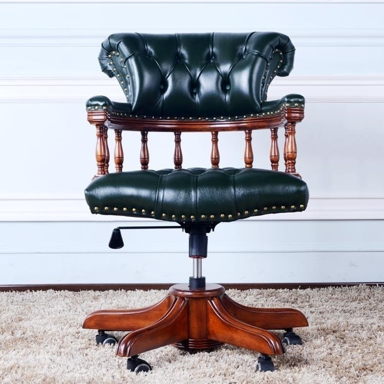 Luxury clubhouse Hair Salon Leather Chair dark green color free shipping