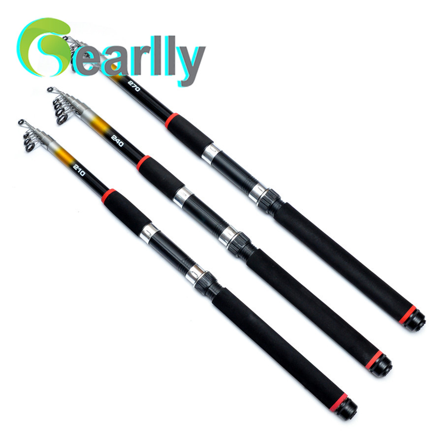 Telescopic 2.1/ 2.4/2.7/3.0/3.6M Portable Glass Fiber Carp Fishing Rod Ultra Light Spinning Fishing Pole for Outdoor Sports(China (Mainland))