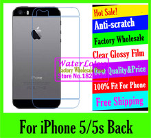 For iPhone 5/5s Back LCD film case Matte case Anti-glare mobile protective film to phone screen protector de pantalla projector