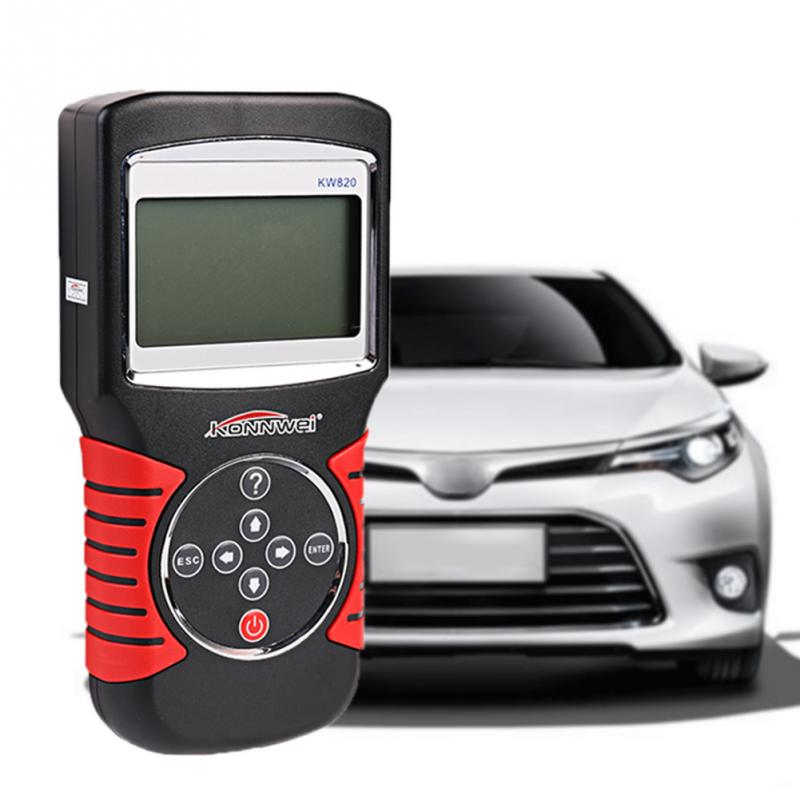 KW820 OBDII EOBD Automotive Fault Diagnostic Scanner Tester Auto Code Reader Work For US Asian European Vehicles(China (Mainland))