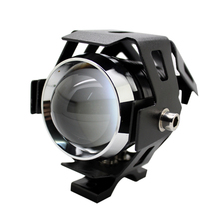 Motorcycle LED Headlight  High Power 125W Waterproof 3000LM CREE U5 Motorbike LED Driving Fog Spot Head Light Lamp Free Shipping(China (Mainland))