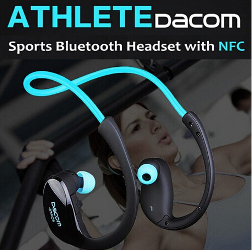 Dacom Athlete Bluetooth 4.1 headset Wireless Headphones Sports Stereo Headset Earphone with Micphone and NFC ET0004-YO(China (Mainland))
