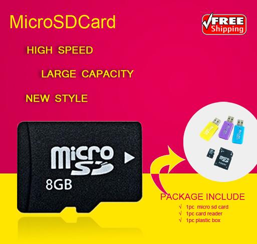 Real Capacity Micro SD Card Memory Card 4GB 8GB 16GB 32GB TF Card Flash Memory Free Gift adapter + TF card reader T3(China (Mainland))