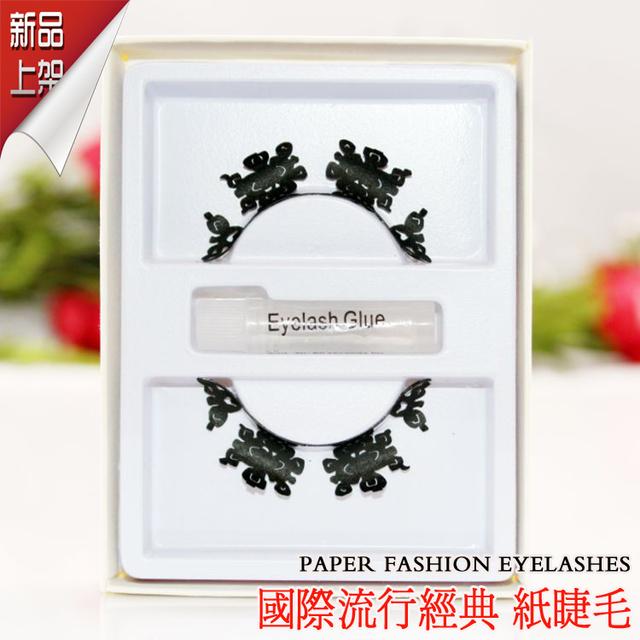 High Quality Long Paper False Eyelashes Fake Eye Lashes Kits Handmade Fashion Costume Party Makeup Paperself 5 Pairs P10