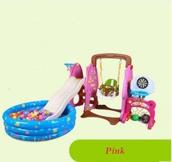 Дети пластиковых слайдов качели открытый баскетбол дартные совета игрушки надувные океан пул ребенка помещении слайды для детей