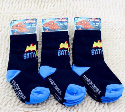 Brand Cool Childrens Batmen Cotton Mid Calf Crew Sock for Toddler Boys 3-5T Black 3 pack/lot<br><br>Aliexpress