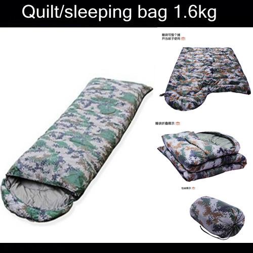 (180+20)x75cm 1.6KG Outdoor digital Camouflage Waterproof sleeping bag,adult envelope hooded sleeping bag Drop Shipping