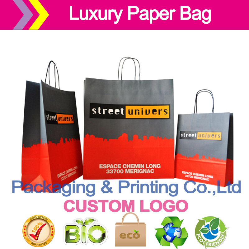 Custom paper bags wholesale