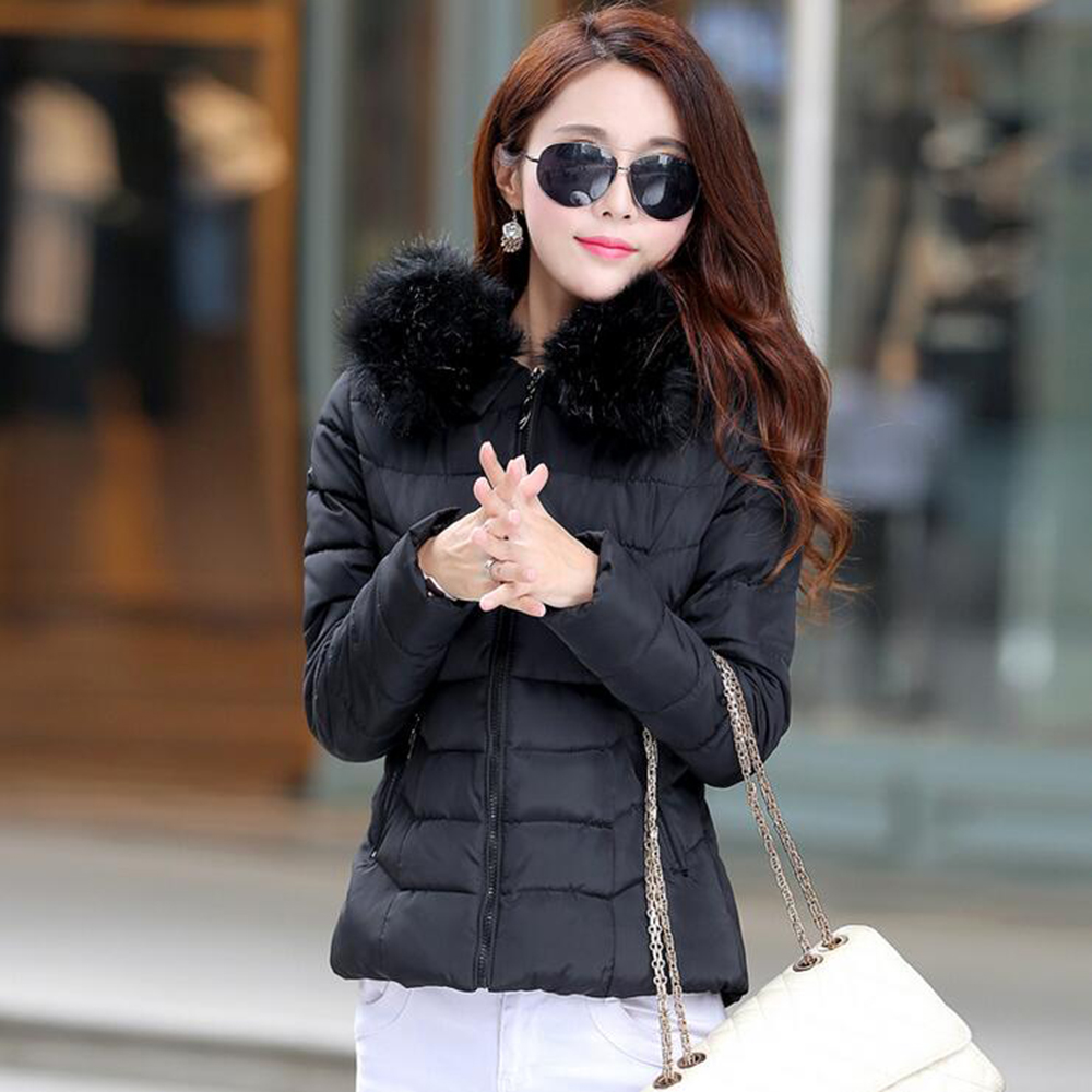 2016 Korean version of the new women's jacket collar Slim Down Nagymaros Female winter padded casual jacket Free shipping