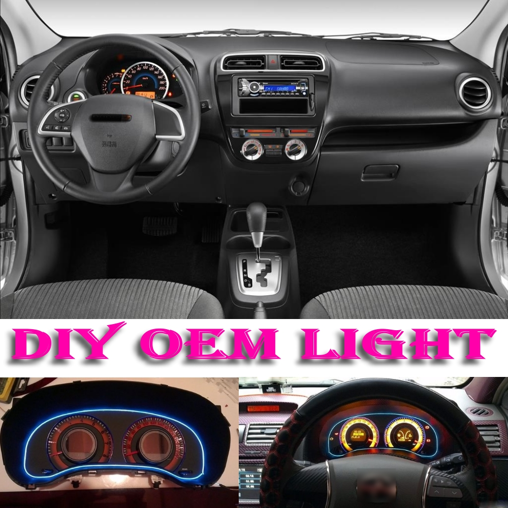 Car Atmosphere Light Flexible Neon Light EL Wire Interior Light Decorative Decals Tags Inside Tuning For Dodge Verna Attitude(China (Mainland))