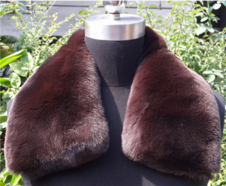 real raccoon fur scarf genuine fur collar leopard print pattern fur scarf green color collar DIY coat collar(China (Mainland))