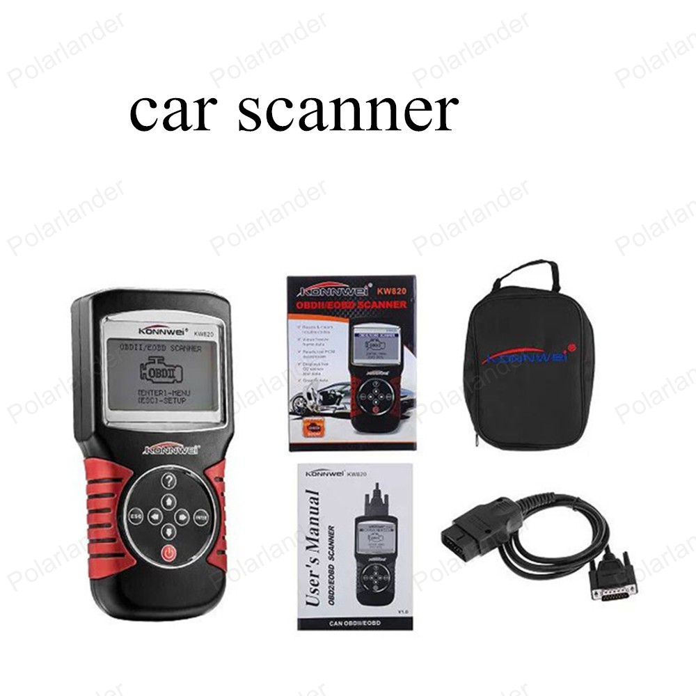 hot sell Car Diagnostic Tool KW820 Code Scanner CAN OBD2 Engine Managment Works For US/Asian/European Vehicles(China (Mainland))