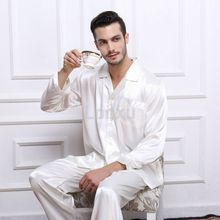 Mens Silk Satin Pajamas Set Pajama Pyjamas PJS Sleepwear Set  Loungewear  S,M,L,XL,2XL,3XL,4XL__Perfect  Gifts(China (Mainland))