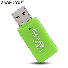 GAOMUYU البسيطة USB2.0 قارئ بطاقات ل مايكرو SD بطاقة في قارئ بطاقات s للذاكرة tf بطاقات DJ1(China)