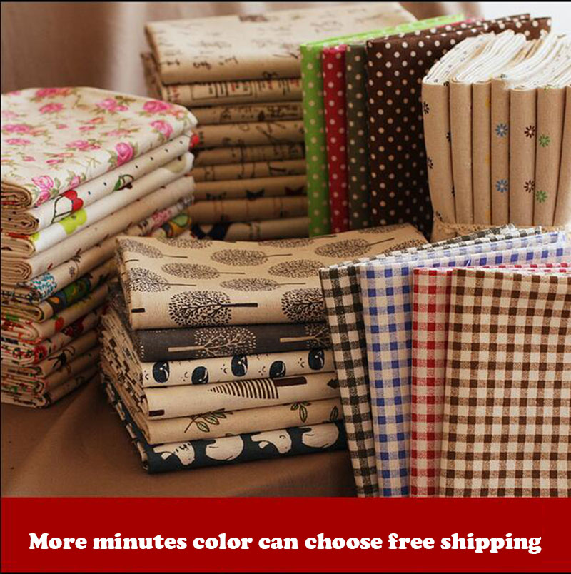1.5 m * 1.5 m floral printed cotton fabric grid of tow ideas linen cloth sofa linen calligraphy hand bag fabric background 13_23(China (Mainland))
