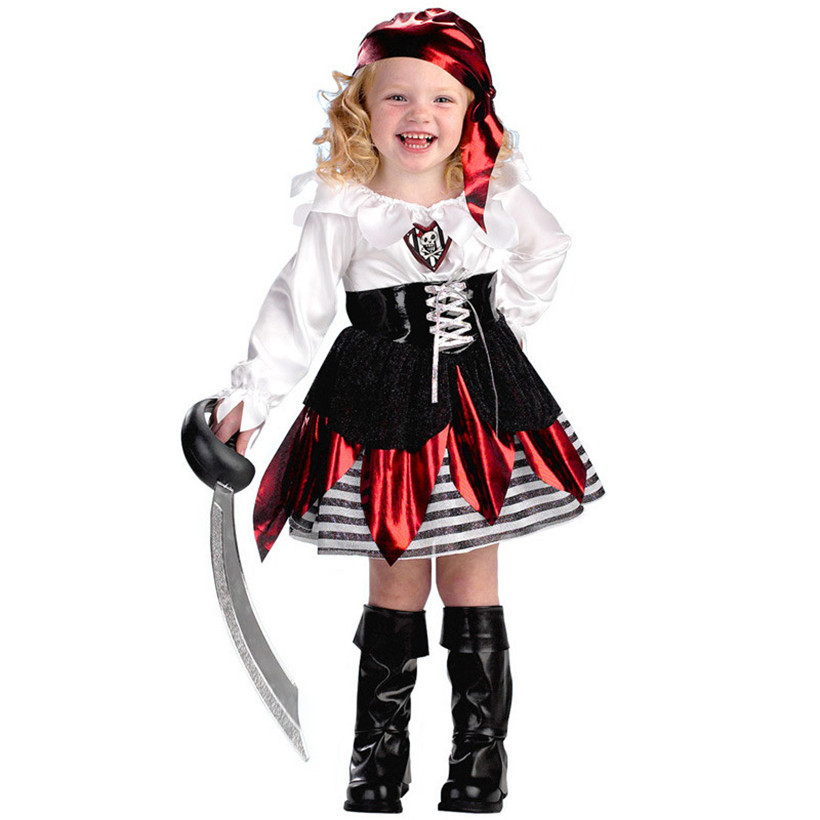 Funny halloween christmas pirate costumes 3 11 years old for Cute halloween costumes for 12 year olds