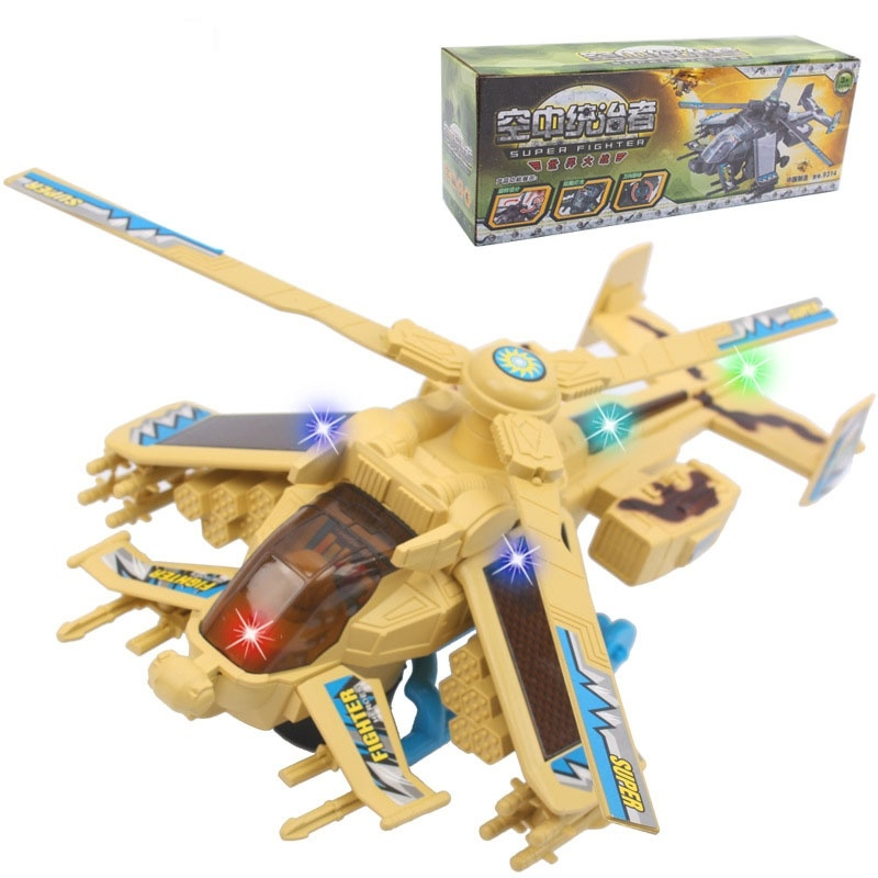 Kids' Gift 1:24 Simulation of Electric LED Fighter Plane Model Toy Aircraft Model KM0002(China (Mainland))