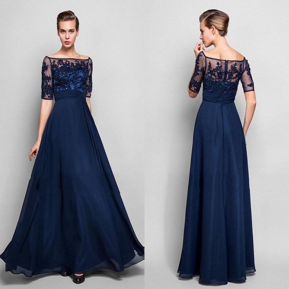 Navy mother of bride dresses dress wallpaper for Navy dresses for weddings