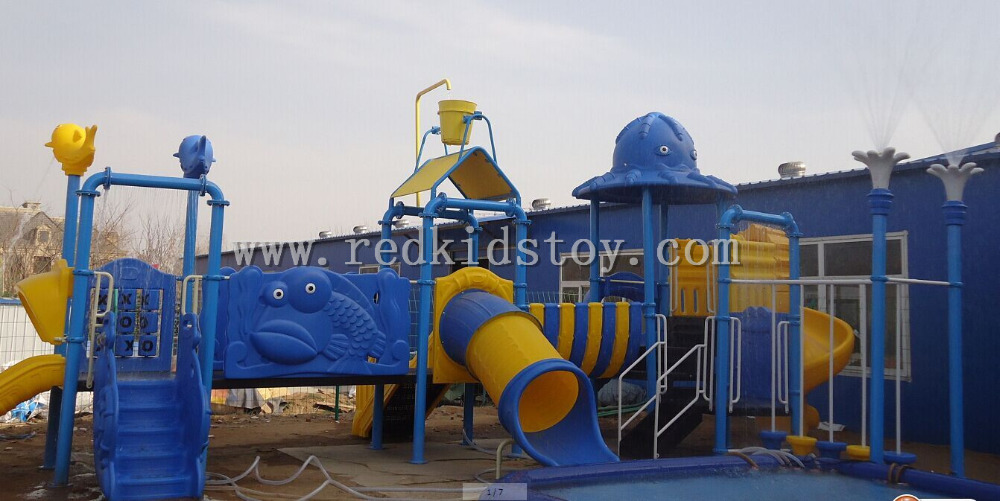 Swimming Pool Playground Water Park Slide With Water Splash System HZ5528a(China (Mainland))