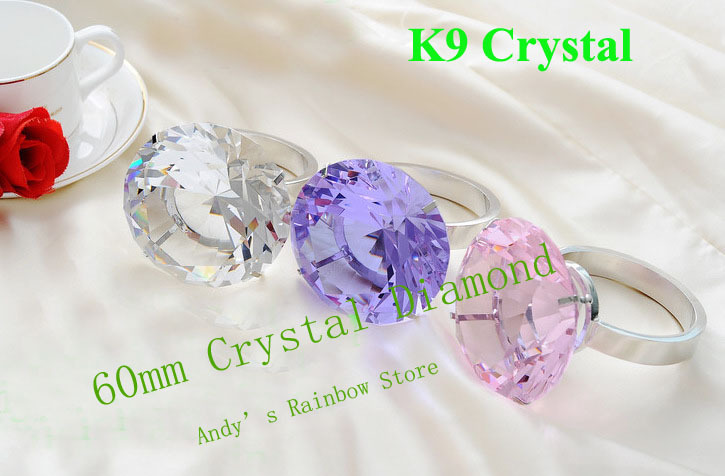 Free shipping,60mm Customize,High quality K9 Crystal wedding gifts,Crystal diamond,8colors Mix sale,wholesale and relail by DHL(China (Mainland))