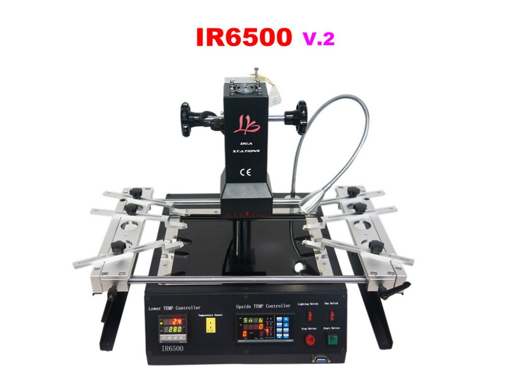 FREE SHIPPING!! LY IR6500 V.2 infrared BGA machine,motherboard repair machine,with pcb jig BGA station(China (Mainland))