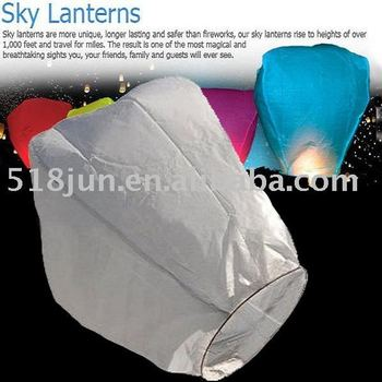 Free Shipping sky lantern 10 Color 300pcs/lot