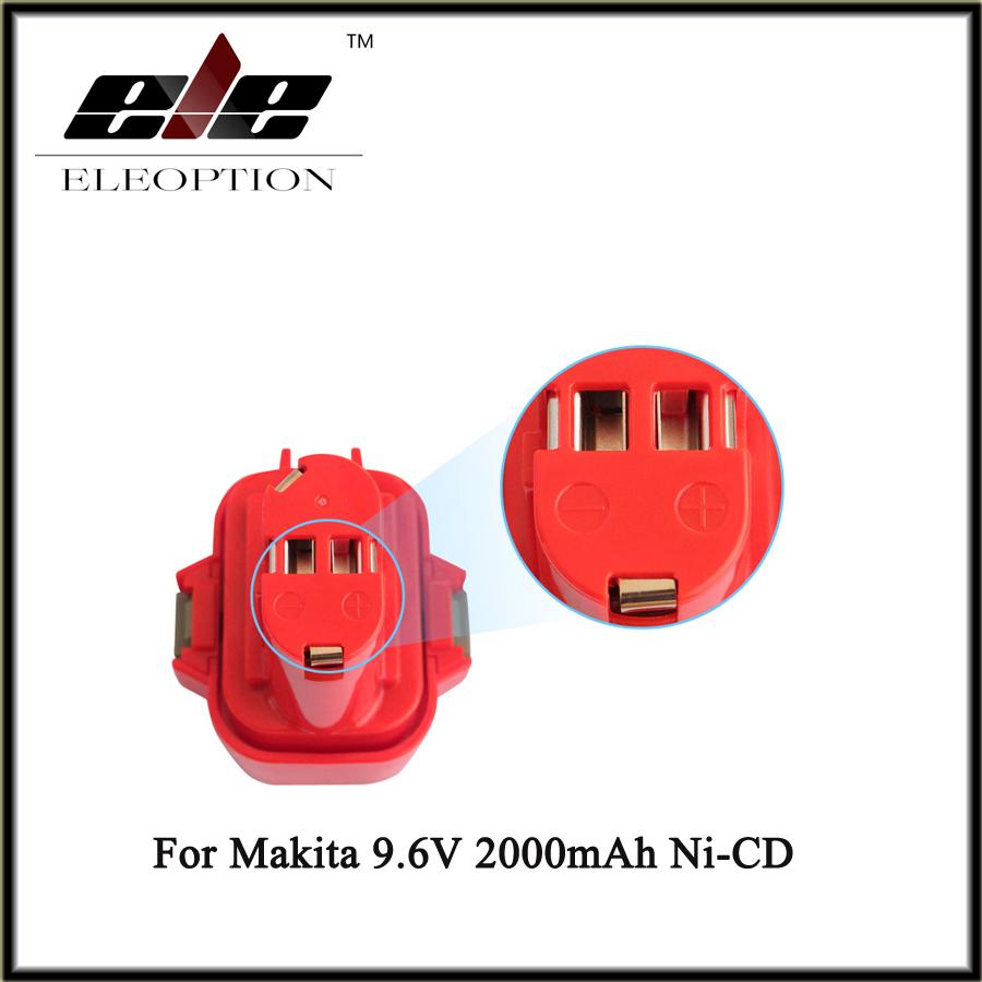 Eleoption 9.6V 2000mAh Rechargeable Battery Pack Power Tool Battery Cordless Drill for Makita 9120 9122 PA09 6207D Ni-CD Bateria(China (Mainland))