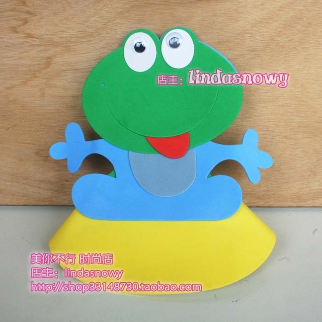 Kindergarten toy animal style hair accessory animal hat child frog hat hair accessory