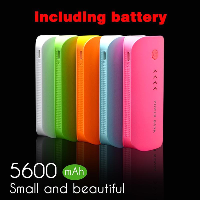 Power Bank 5600mAh USB External Mobile Backup Powerbank Battery for all phone Universal Charger 2*2800mah(18650battery)(China (Mainland))