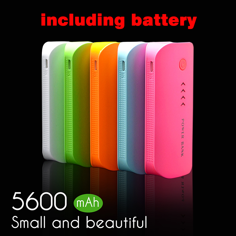 Power Bank 5600mAh USB External Mobile Backup Powerbank Battery for all phone Universal Charger 2*2800mah(18650battery)(China (Mainland))